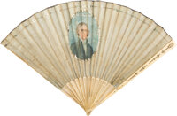 Thomas Jefferson: A Stunning Ladies Fan Bearing His 1801 Inaugural Date