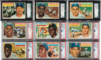 1956 Topps Baseball Complete Set (340) With Both Checklists