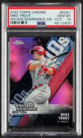 Baseball Cards:Singles (1970-Now), 2020 Topps Chrome Decade of Dominance Die Cut Mike Trout #DOD-1 PSA Gem Mint 10. ...