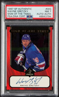"""Hockey Cards:Singles (1970-Now), 1997 SP Authentic Wayne Gretzky """"Sign Of The Times"""" Autograph #WG PSA NM 7, Auto Authentic...."""