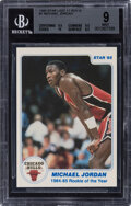 """Basketball Cards:Singles (1980-Now), 1985 Star Co. """"Rookie of The Year"""" Michael Jordan #1 BGS Mint 9...."""