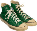 Basketball Collectibles:Others, 1986 Larry Bird Gifted Sneakers & Gym Bag to Len Bias from the Len Bias Collection. ...