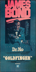"""Movie Posters:James Bond, Dr. No/Goldfinger Combo (20th Century Fox Video, 1984). Rolled, Overall: Fine+. Video Poster (18"""" X 36"""") & Half Sheets (2) (... (Total: 3 Items)"""