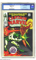 Silver Age (1956-1969):Superhero, Captain Marvel #2 (Marvel, 1968) CGC NM/MT 9.8 White pages. Gene Colan wasn't known for drawing cosmic adventures, but when ...