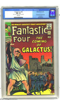 Silver Age (1956-1969):Superhero, Fantastic Four #48 (Marvel, 1966) CGC NM+ 9.6 White pages. Thefirst appearance of both the Silver Surfer and Galactus! This...