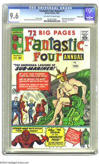 Fantastic Four Annual #1 Pacific Coast pedigree (Marvel, 1963) CGC NM+ 9.6 Off-white to white pages. Did Doctor Doom use...