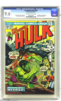 Bronze Age (1970-1979):Superhero, The Incredible Hulk #180 (Marvel, 1974) CGC NM+ 9.6 Off-white towhite pages. To the untrained eye, it was just another Hu...