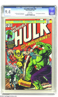 Bronze Age (1970-1979):Superhero, The Incredible Hulk #181 (Marvel, 1974) CGC NM 9.4 White pages. Hewas created to be Marvel's Canadian crime fighter, but li...