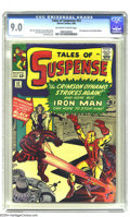 Silver Age (1956-1969):Superhero, Tales of Suspense #52 (Marvel, 1964) CGC VF/NM 9.0 Off-white to white pages. Black Widow makes her first appearance: va-va-v...