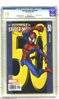 "Modern Age (1980-Present):Superhero, Ultimate Spider-Man #50 (Marvel, 2004) CGC MT 10.0 White pages.""Gem Mint"" copy. Mark Bagley cover. Bagley and Art Thibert a..."