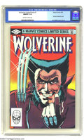"""Modern Age (1980-Present):Superhero, Wolverine (limited series) #1 (Marvel, 1982) CGC NM/MT 9.8Off-white to white pages. Wolvie's look says """"come and get some""""..."""