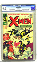 Silver Age (1956-1969):Superhero, X-Men #1 U.K. Edition (Marvel, 1963) CGC NM- 9.2 Off-white pages. Wow! Did Magneto protect this fabulous copy in a magnetic ...