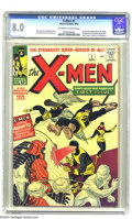 Silver Age (1956-1969):Superhero, X-Men #1 (Marvel, 1963) CGC VF 8.0 Off-white to white pages. TheX-Men's popularity just grows and grows, making an investme...
