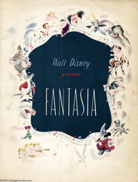 Walt Disney Presents Fantasia nn (Western, 1940) Condition: FN-. This is the program that was sold at movie theater's to...