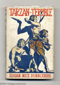 Books, Edgar Rice Burroughs - Tarzan the Terrible (Methuen, 1918-20). TheBritish editions of Tarzan's books published by Methuen h...