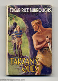 Books, Edgar Rice Burroughs - Tarzan's Quest, 3rd Printing (Methuen,1952). Published in England by Methuen, this edition of Tarz...