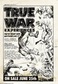 Original Comic Art:Covers, Al Avison (attributed) - War Battles #4 Cover Original Art (Harvey,1952). Harvey Comics recycled the cover to War Battles...