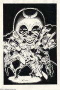 Original Comic Art:Covers, John Buscema - Avengers #49 Cover Recreation Original Art(undated). John Buscema has recreated one of his most magnificent...