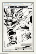 Original Comic Art:Splash Pages, John Byrne - Fantastic Four #358, Silver Surfer, Galactus Pin-UpOriginal Art (Marvel, 1991). From the 30th Anniversary issu...