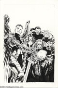 Original Comic Art:Covers, John Byrne - Shadow Cabinet #1 Cover Original Art (DC, 1994). JohnByrne gathers the Milestone team, Shadow Cabinet, togethe...