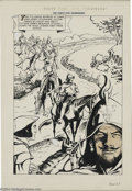 "Original Comic Art:Splash Pages, Maurice Del Bourgo - Classics Illustrated #113 ""The Forty-FiveGuardsmen"" Splash Page Original Art (Gilberton, 1953). Mauric..."