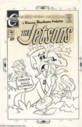 Original Comic Art:Covers, Ray Dirgo - Original Cover Art for The Jetsons #10 (Charlton,1971). Sometime in the far future, ordinary wildflowers will b...