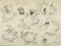 "Original Comic Art:Miscellaneous, Walt Disney Studios - Animation Model Sheet for Cannibal King from""Trader Mickey"" Original Art (Disney, 1931). Here is a bi..."