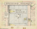 Original Comic Art:Miscellaneous, Walt Disney Studios - Background Concept Drawing Animation OriginalArt (undated). Miss Minnie's dressing room is detailed i...