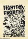 Original Comic Art:Covers, Lee Elias - Fighting Fronts #5 Cover Original Art (Harvey, 1953).The U.S. Army is winning on this fighting front as a G.I. ...