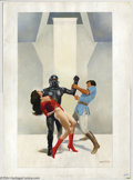 Original Comic Art:Paintings, Enric - SF Painting and Preliminary Drawing for Starbrite OriginalArt (undated). Enrique Torres, who often signs his work E...