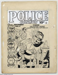 Original Comic Art:Covers, Gill Fox - Police Comics #11 Cover Original Art (Quality, 1942). The pliable Plastic Man emerges from a test tube to squirt ...