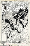 "Original Comic Art:Covers, Ron Frenz and Joe Rubinstein - The Amazing Spider-Man #265 CoverOriginal Art (Marvel, 1985). ""The Fox is back... and Spidey..."