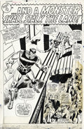Original Comic Art:Splash Pages, Don Heck and George Bell - The Avengers Annual #1, page 30 OriginalArt (Marvel, 1967). The Living Laser makes a spectacle o...