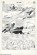 Original Comic Art:Panel Pages, Carmine Infantino and Joe Giella - The Flash #124, page 12 OriginalArt (DC, 1961). Elongated Man pops a shaggy alien with h...