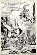 Original Comic Art:Splash Pages, Carmine Infantino and Mike Esposito - Marvel Team-Up #105, page 6,Splash Page Original Art (Marvel,1981). In the swinging s...