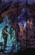 Original Comic Art:Panel Pages, Joe Jusko - Vampirella: Blood Lust #1, page 19 Original Art (HarrisComics, 1997). The vivacious vixen, Vampirella, gives a ...