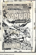 Original Comic Art:Covers, Gil Kane (attributed) - Adventure into Fear #29 Cover Original Art(Marvel, 1975). Death has a thousand eyes, as Morbius tak...