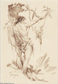 Original Comic Art:Sketches, Roy G. Krenkel - Tarzan Sketch Original Art (undated)....
