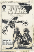 Original Comic Art:Covers, Jose Luis Garcia-Lopez - The New Teen Titans #24 Cover Original Art(DC, 1986). The Hybrid, who is the combined forces of Pt...
