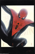 Original Comic Art:Covers, Alex Ross - Spider-Man Concept Painting Original Art (2001).Uber-painted Alex Ross created this alternate version of Spider...