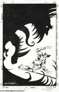 Original Comic Art:Covers, Val Semeiks and Bob McLeod - X-Men Unlimited #9 Original Cover Art(Marvel, 1995). Wolverine faces off against a gigantic gr...