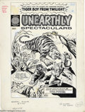 Original Comic Art:Covers, Joe Simon and Jack Sparling - Unearthly Spectaculars #1 CoverOriginal Art (Harvey, 1965). This dynamic image was created an...