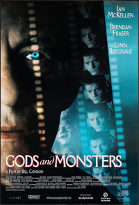 "Gods and Monsters (Lions Gate, 1998). Rolled, Very Fine-. One Sheet (27"" X 40"") SS. Drama"
