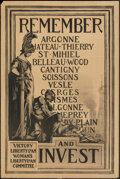 """Movie Posters:War, World War I Propaganda (Sackett & Wilhelms, 1917). Rolled, Fine. Victory Liberty Loan Poster (20"""" X 30"""") """"Remember and Inves..."""