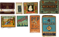 1880's - 1920's Tobacco Packs, Pouches & Tins Collection (8)