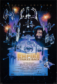 """The Empire Strikes Back (20th Century Fox, R-1997). Rolled, Very Fine. Signed Special Edition One Sheet (27"""" X 39.7..."""