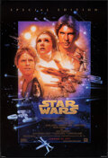 """Movie Posters:Science Fiction, Star Wars (20th Century Fox, R-1997). Rolled, Very Fine. Signed Special Edition One Sheet (27"""" X 39.75"""") SS Advance Style B,..."""