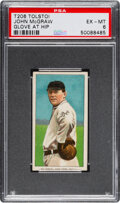 Baseball Cards:Singles (Pre-1930), 1909-11 T206 Tolstoi John McGraw (Glove at Hip) PSA EX-MT 6 - Pop One, None Higher For Brand! ...