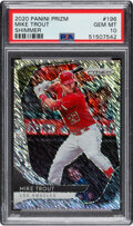Baseball Cards:Singles (1970-Now), 2020 Panini Prizm Mike Trout (Shimmer) #196 PSA Gem Mint 10 - #'d 7/7....