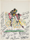 Football Collectibles:Others, 1982 NFL Greats Multi-Signed LeRoy Neiman Print....